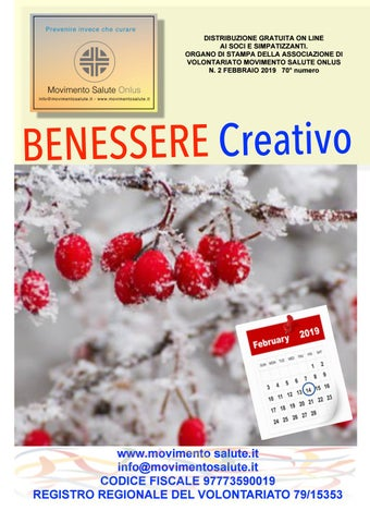 Benessere Creativo Febbraio 2019 By Info Movimentosalute It Issuu
