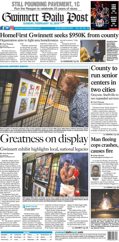 February 10, 2019 — Gwinnett Daily Post by Gwinnett Daily