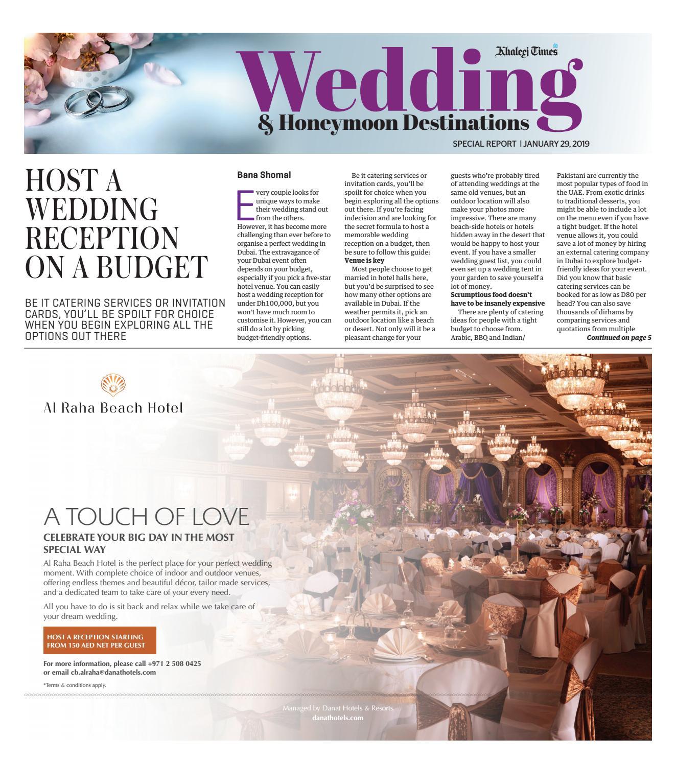 Wedding and Honeymoon Destinations by Red Door Productions