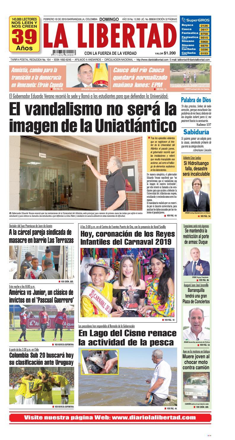Primera Página Febrero 10 De 2019 By La Libertad Issuu