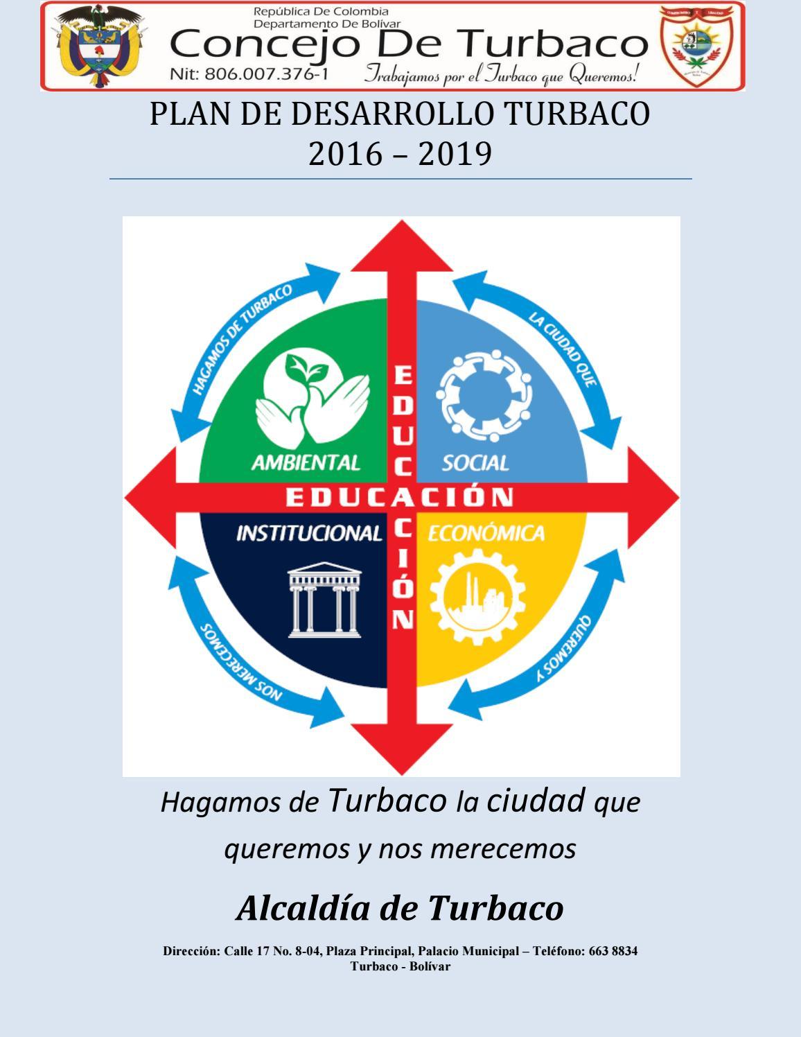 736ac9e03cea48 Plan de desarrollo Turbaco - Bolivar 2016 - 2019 by CTP TURBACO BOLÍVAR -  issuu