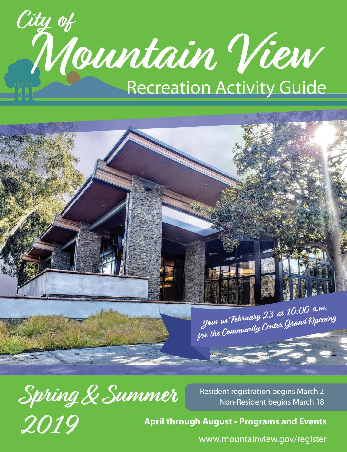 City Of Mountain View 2019 Spring Summer Activity Guide By City Of Mountain View Recreation Division Issuu