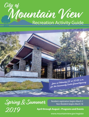 City of Mountain View 2019 Spring/Summer Activity Guide by