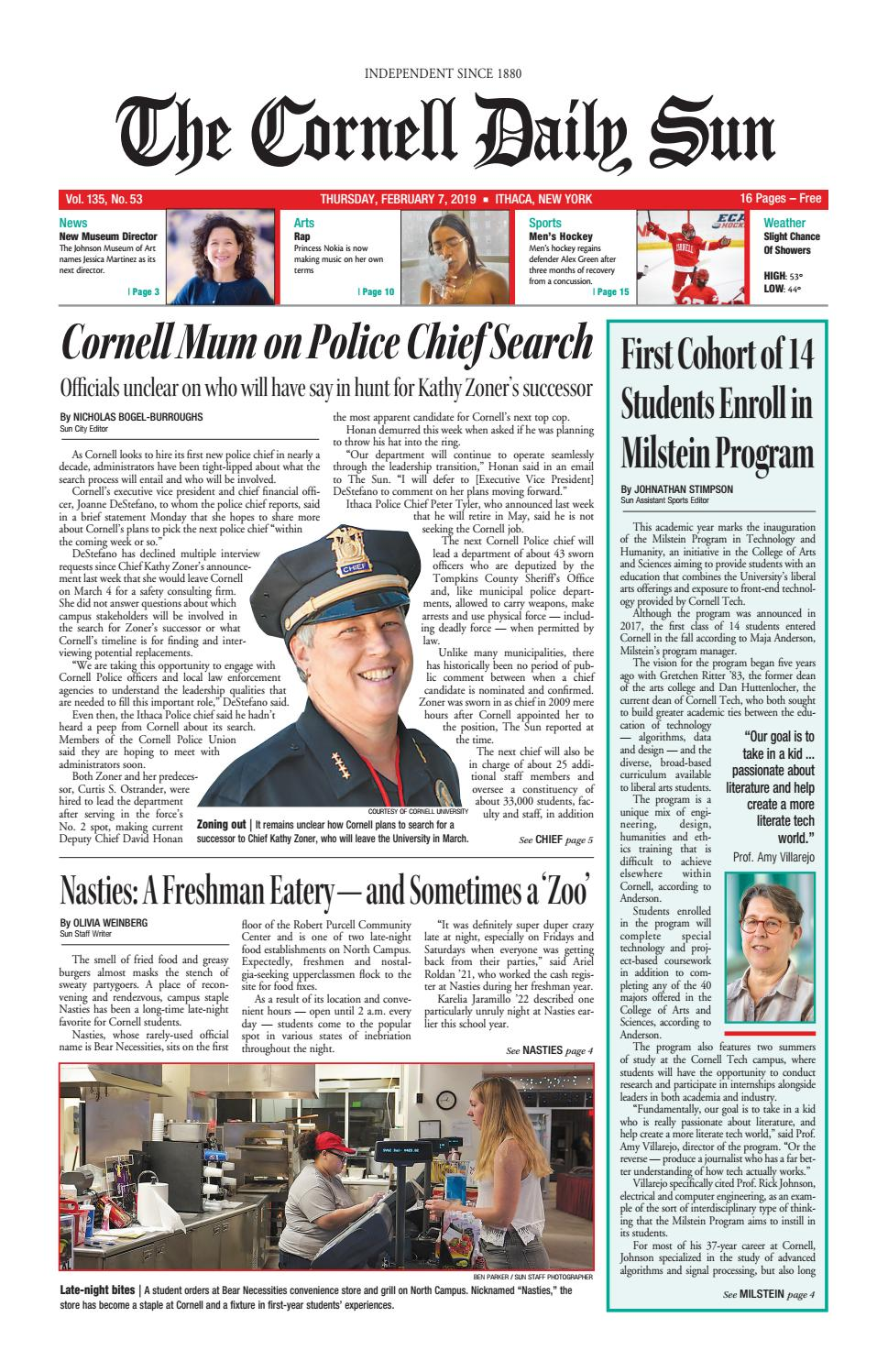 11ca6c7e528b 02-07-19 entire issue hi res by The Cornell Daily Sun - issuu