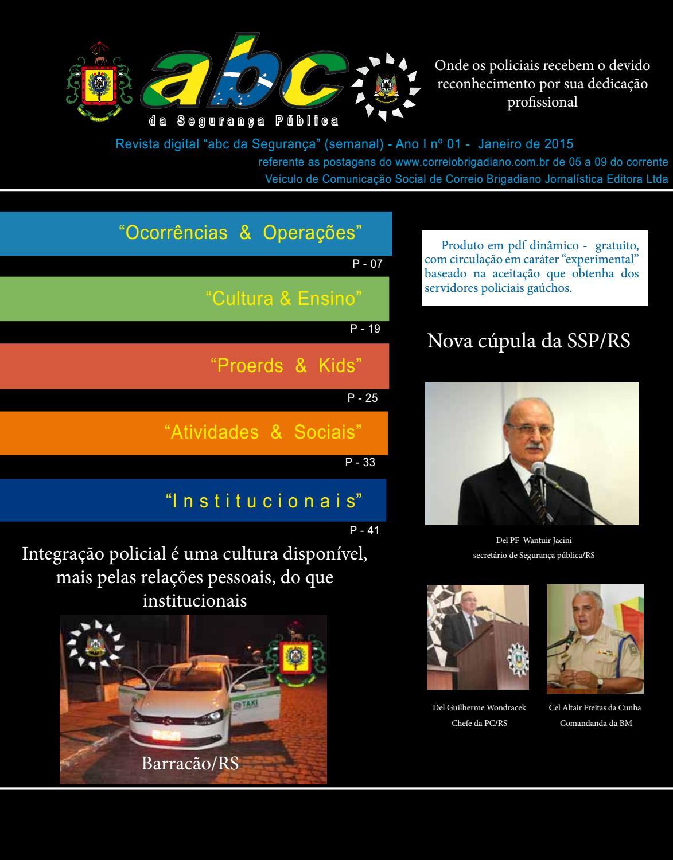 8e62b2cd3a Revista abc da segurança pública - expreiomental by Estante virtual do  jornal Correio Brigadiano edições anteriores - issuu