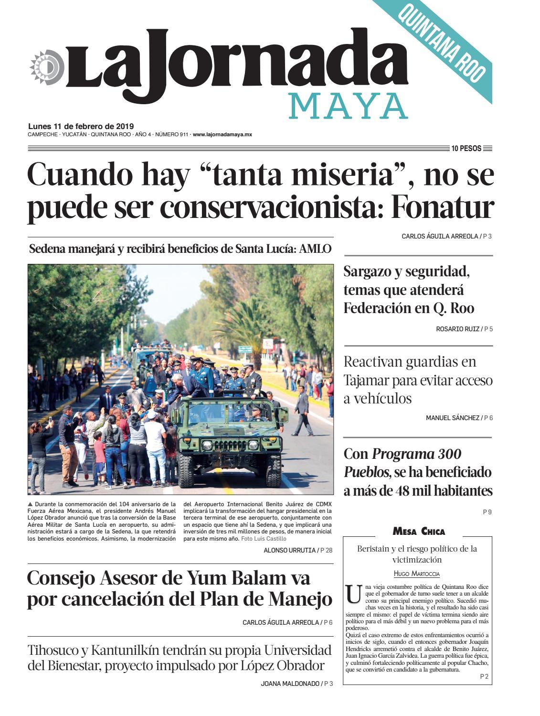 La Jornada Maya · lunes 11 de febrero de 2019 by La Jornada Maya - issuu 6f9d5b843d069