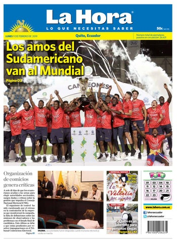 da17c6d60 Quito 11 de febrero de 2019 by Diario La Hora Ecuador - issuu