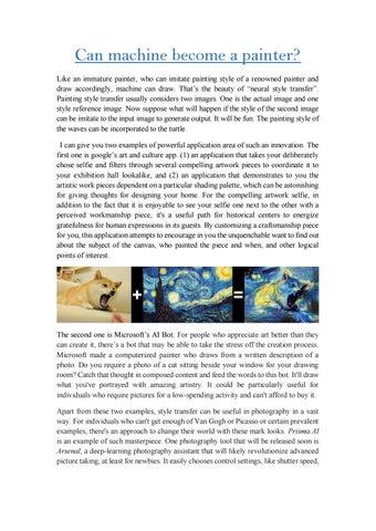 Can machine become a painter? by brainwaredm1 - issuu
