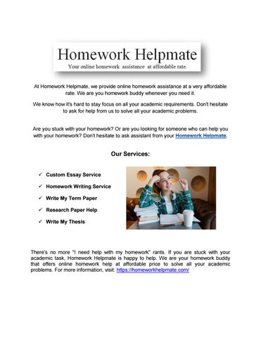 We Offer All Types of Math Homework Help To Students of All College Levels