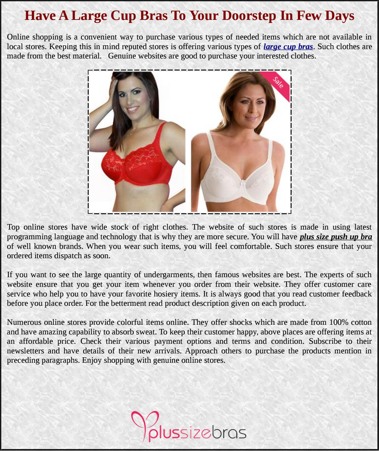 ddc5ad6323f Have A Large Cup Bras To Your Doorstep In Few Days by Plus Size Bras - issuu
