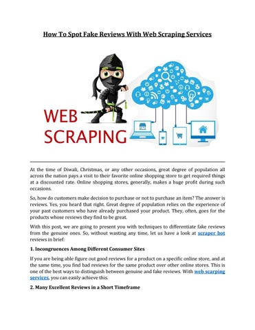How To Spot Fake Reviews With Web Scraping Services by Bot Scraper