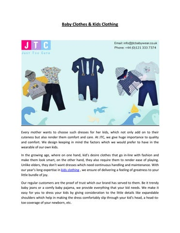 e75a70baf Baby Clothes & Kids Clothing by justtoocute babywear - issuu