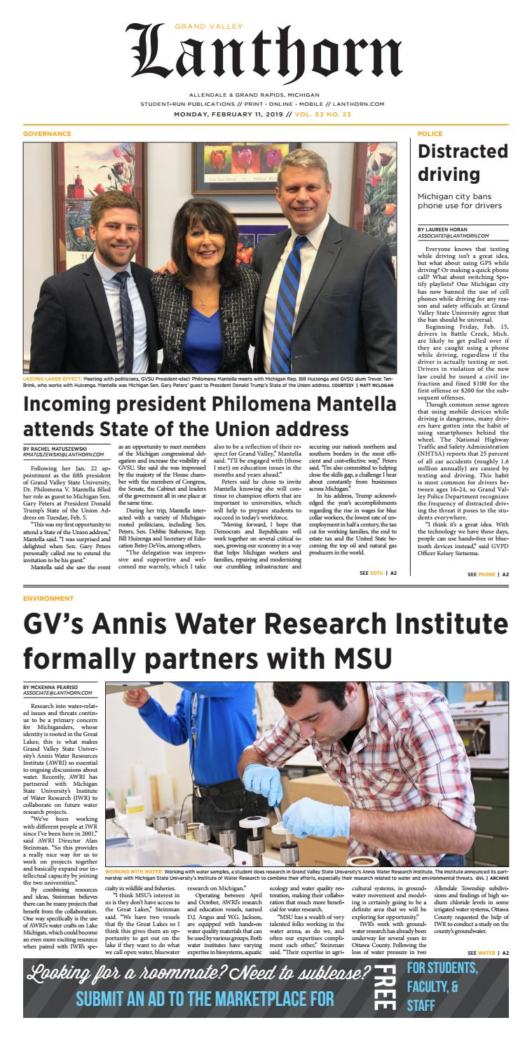 Issue 23, February 11, 2018 - Grand Valley Lanthorn by Grand Valley