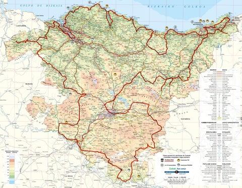 Mapa General De Carreteras Euskadi By Direccion De Turismo Y