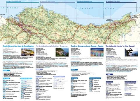 Mapa De La Costa Vasca By Direccion De Turismo Y Hosteleria Del