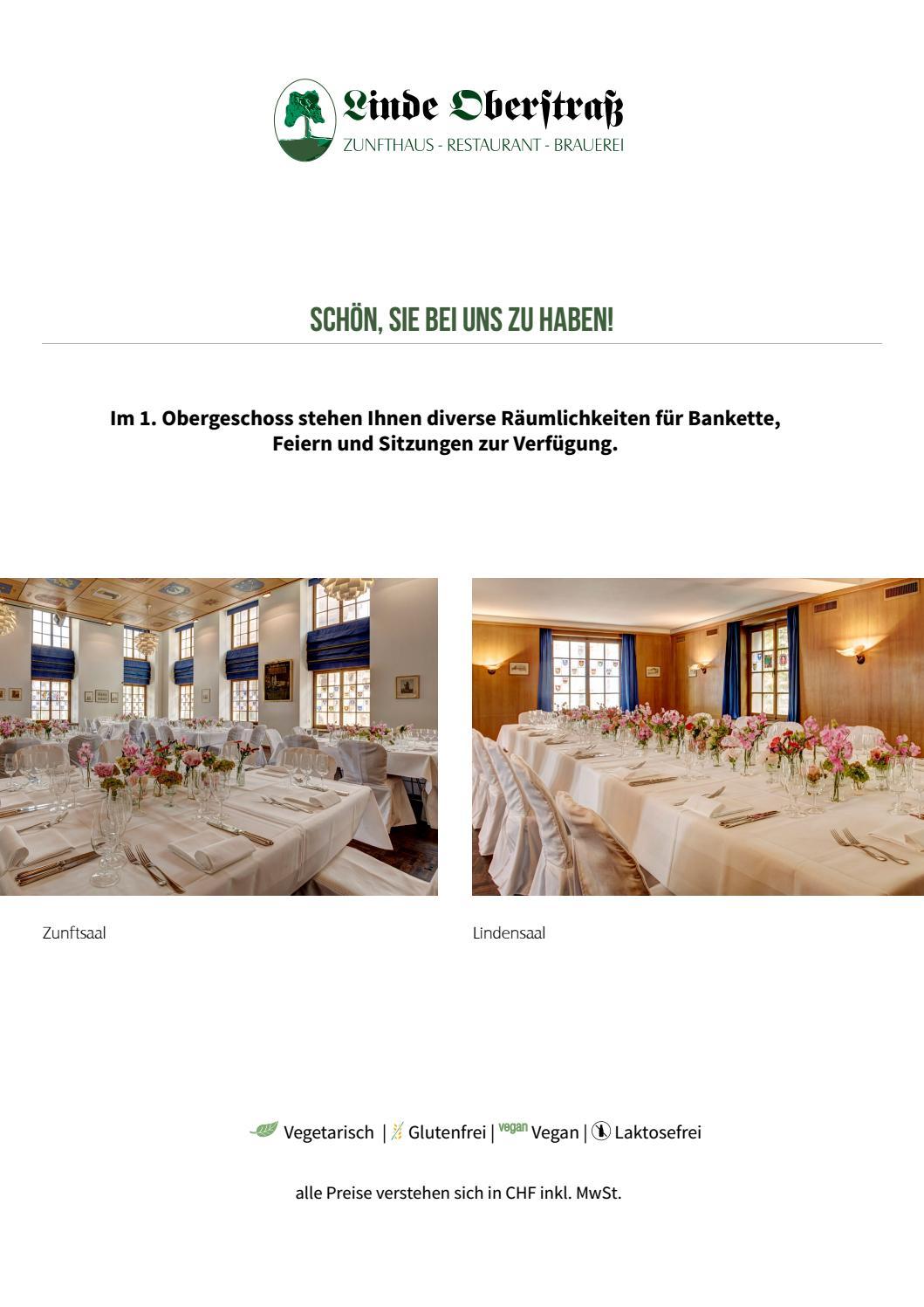 Carte Linde.A La Carte Linde Oberstrass By Remimag Gastronomie Ag Issuu