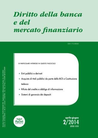 015451d365 Diritto della banca e del mercato finanziario 2/2014 by Pacini ...