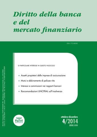 db32e2b6cb Diritto della banca e del mercato finanziario 4/2014 by Pacini ...