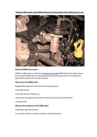 Check Engine Light Codes P0400 — BCMA