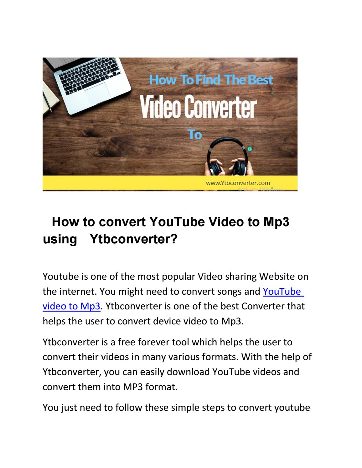 How to convert YouTube Video to Mp3 using Ytbconverter? by