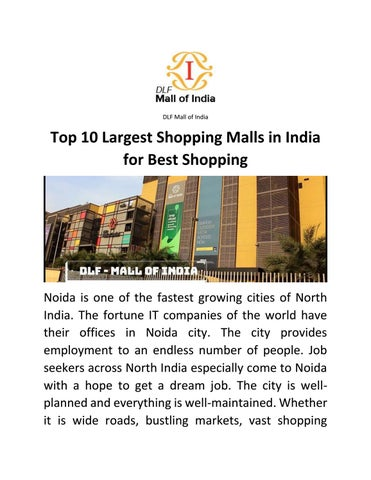 b1244521b Top 10 Largest Shopping Malls in India for Best Shopping