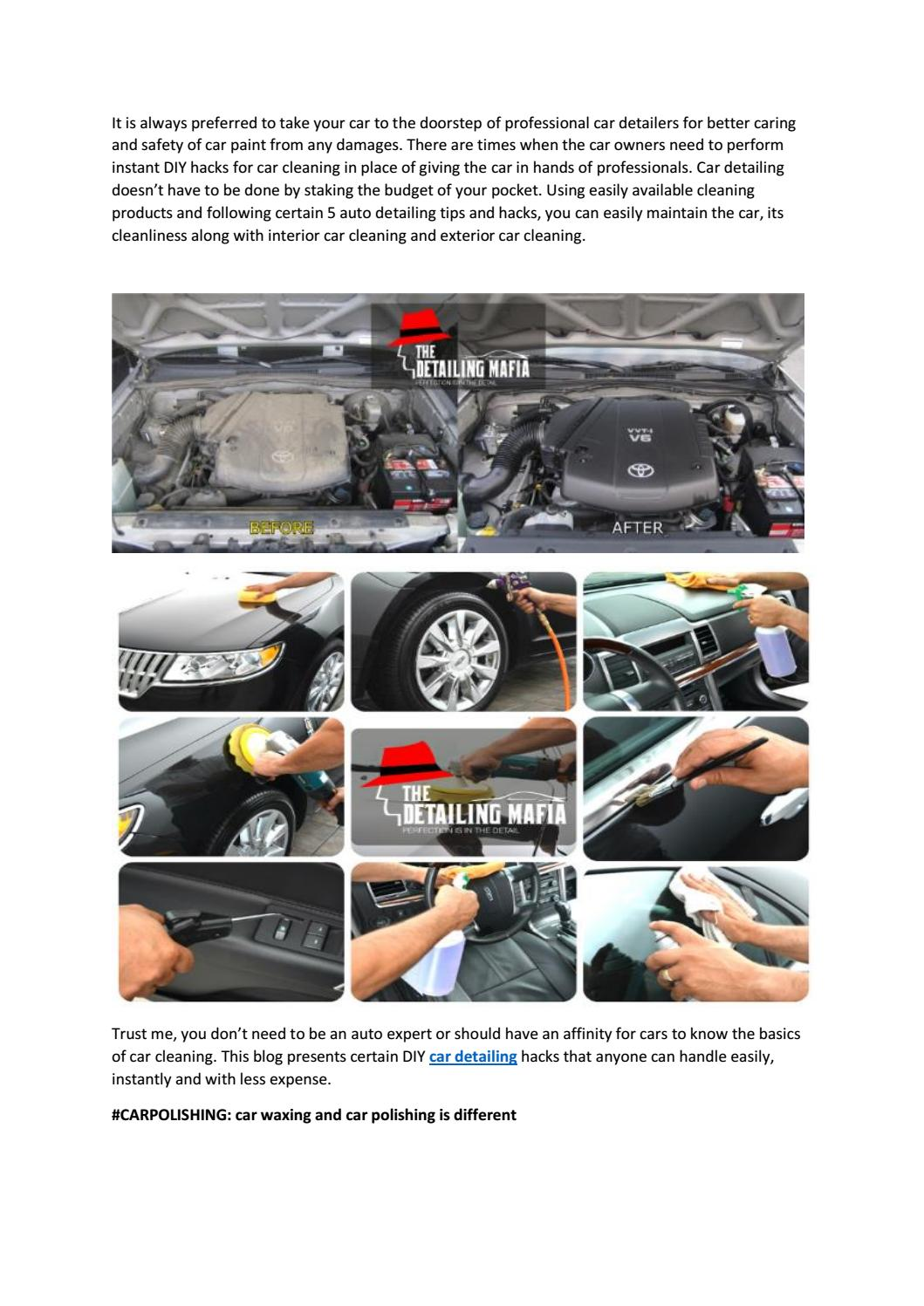 Car Detailing Services In Chennai By The Detailing Mafia Issuu