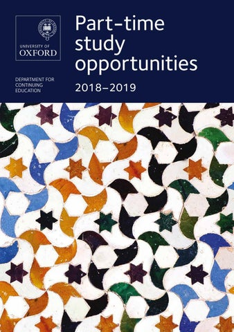 2ebe3e200 Part-time study opportunities prospectus 2018-2019 by Oxford ...