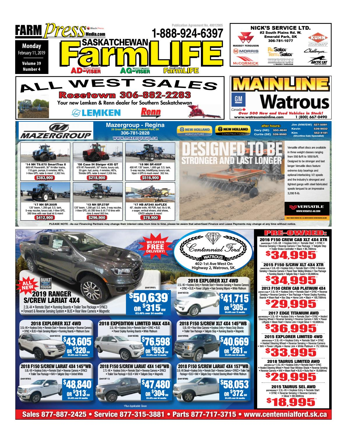 Saskatchewan Farm Life, February 11, 2019 by Black Press