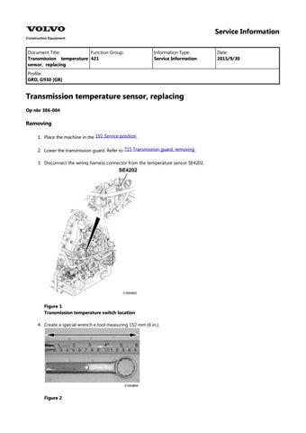 volvo g930 motor grader service repair manual
