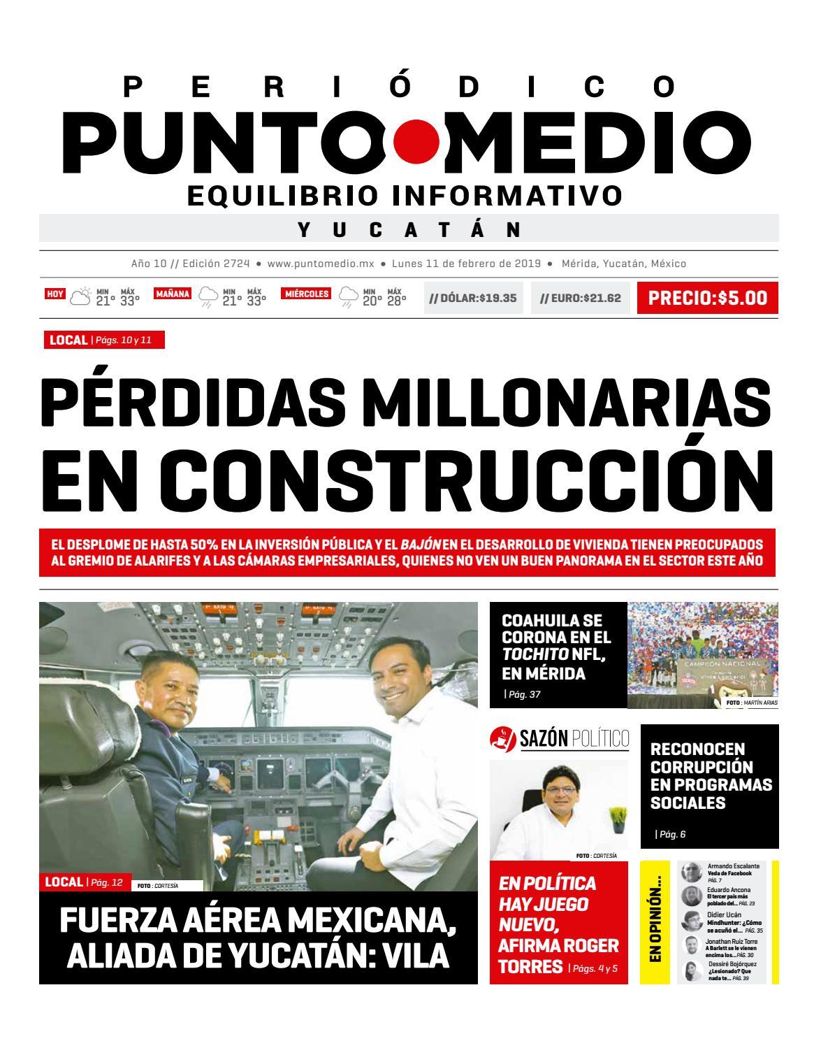 Edición impresa del lunes 11 de febrero de 2019 by Punto Medio - issuu 8fc2a8a71a3