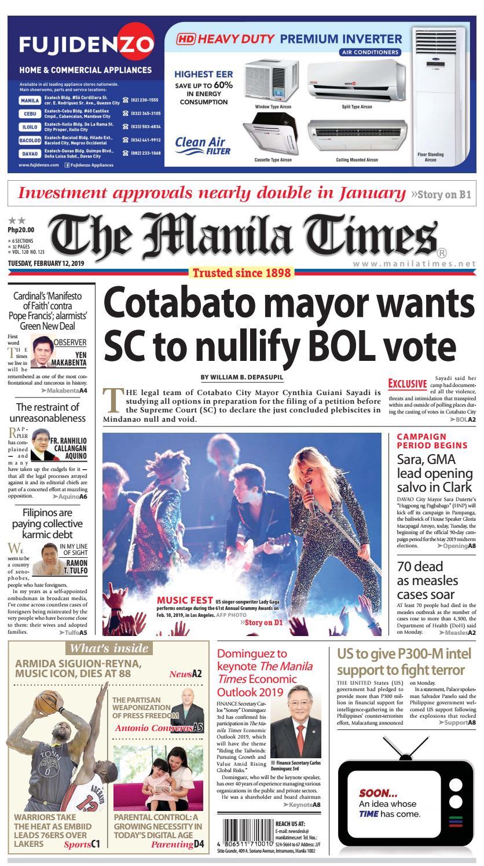 THE MANILA TIMES | FEBRUARY 12, 2019 by The Manila Times - issuu