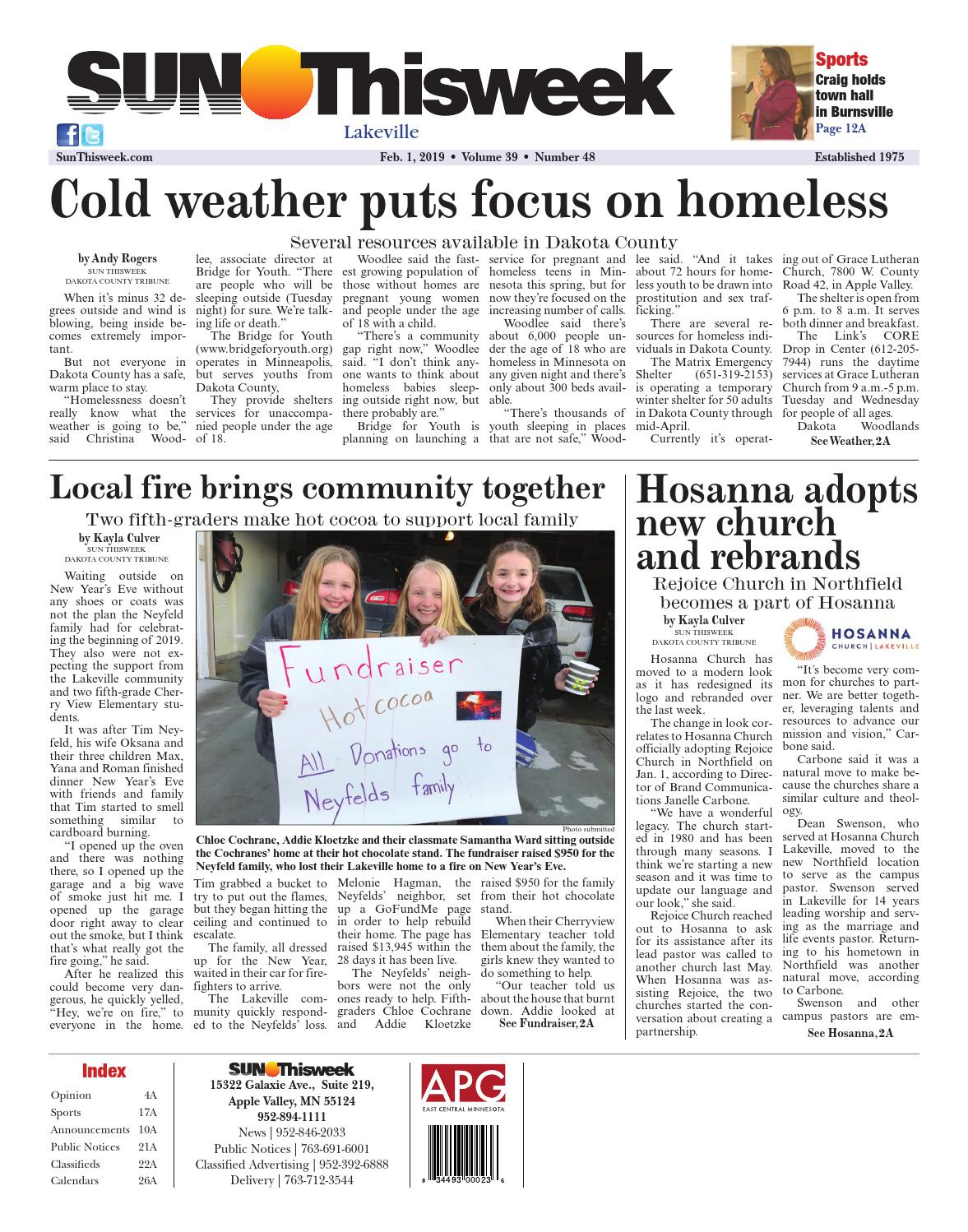 Sun Thisweek Lakeville 2-1-19 by Sun Thisweek - issuu