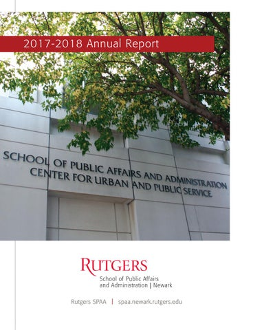 quality design 84834 1bd5d Rutgers SPAA 2017-2018 Annual Report by RutgersSPAA - issuu