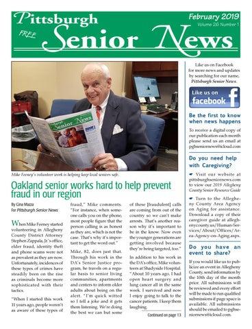 February 2019 Pittsburgh Senior News By Pittsburgh Senior News Issuu