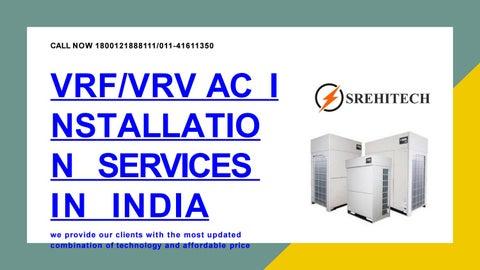 VRV/ VRF AC Installation Services in India by srehitechvrf