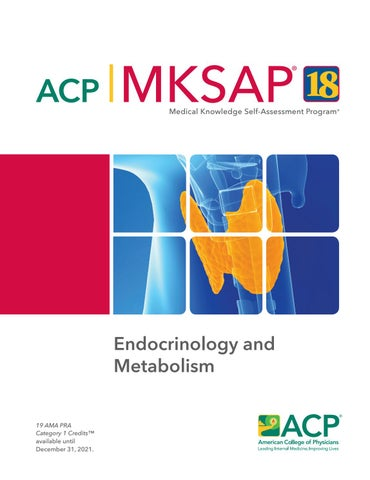 MKSAP 18 Sample Pages - Endocrinology and Metabolism by American