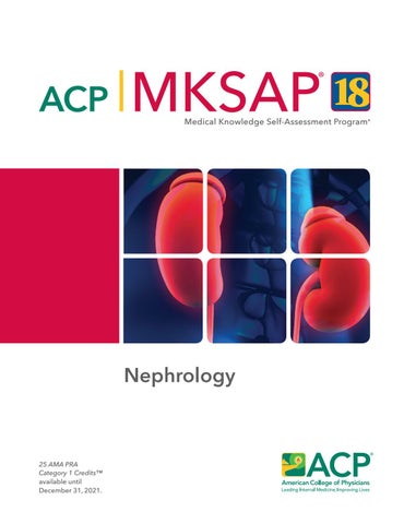MKSAP 18 Sample Pages - Nephrology by American College of