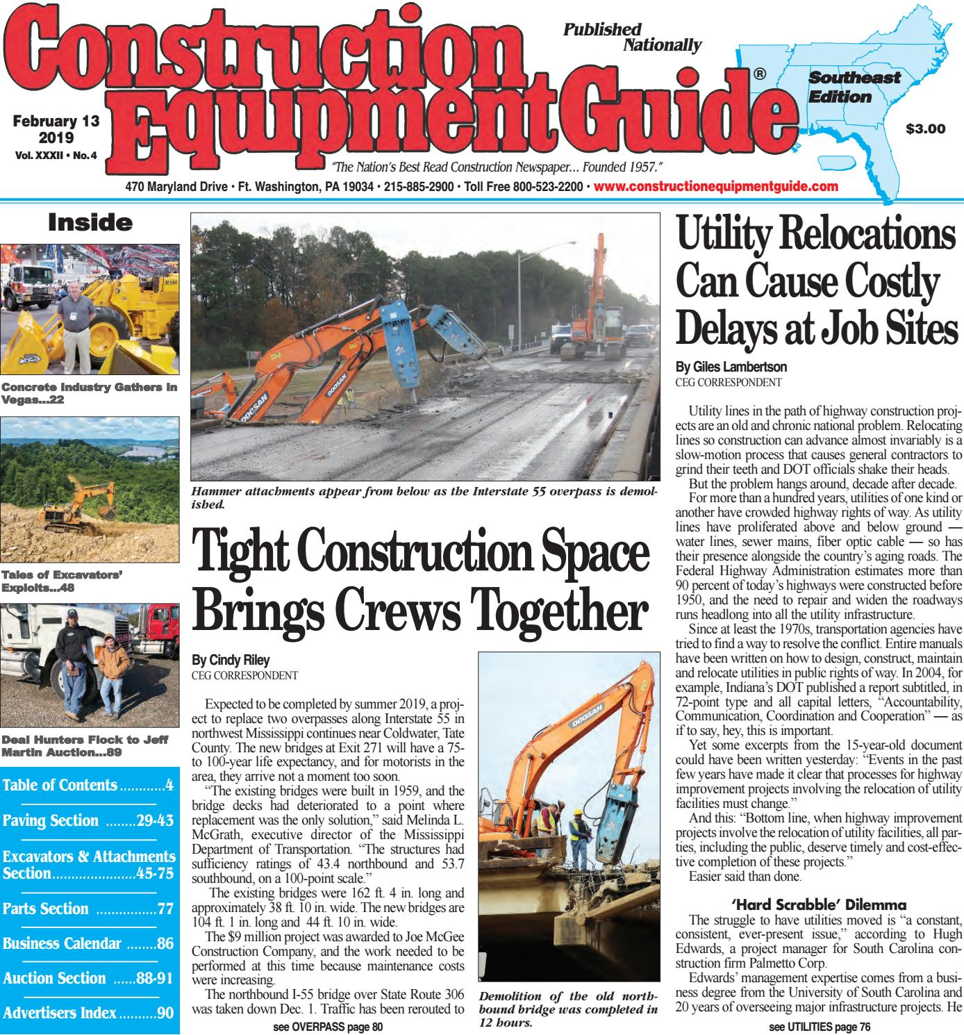 Southeast 4 February 13, 2019 by Construction Equipment