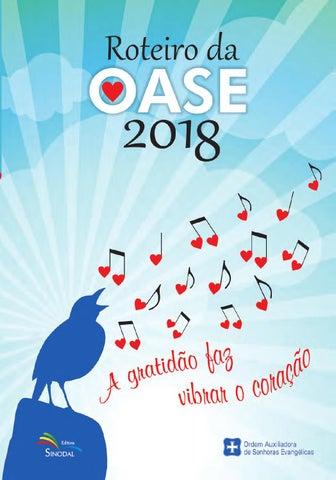 e773a383b Roteiro da OASE 2018 - A gratidão faz vibrar o coração by Portal ...