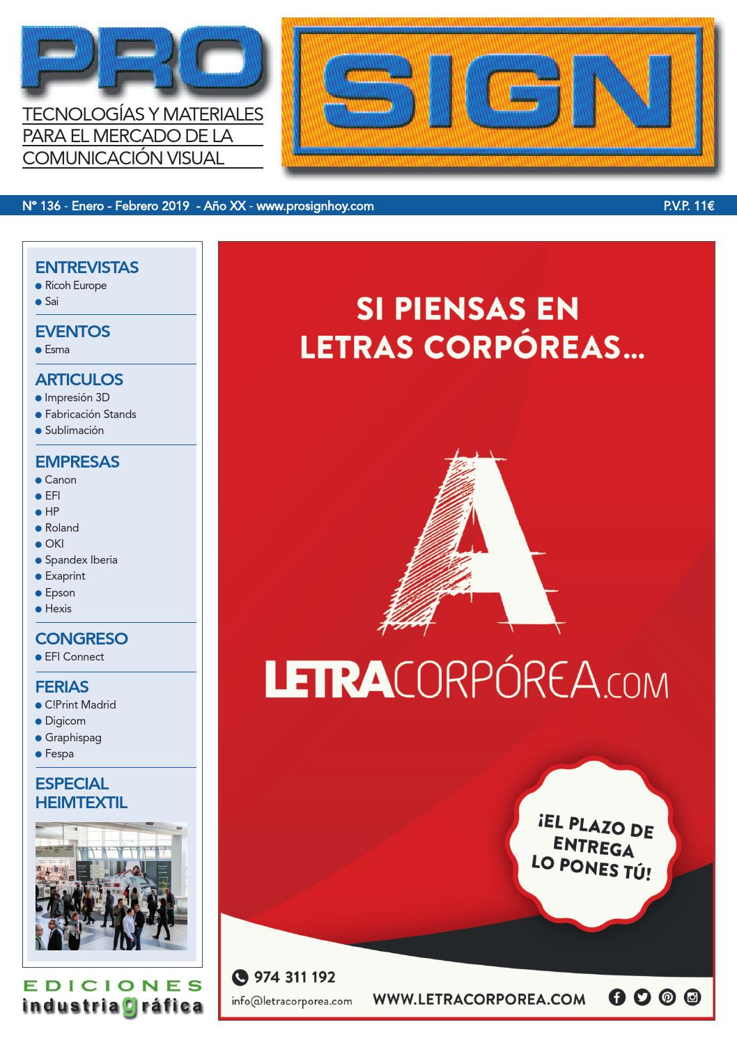 ff79b5ac6 Prosign 136 - Enero / Febrero 2019 by Ediciones Industria Gráfica - issuu