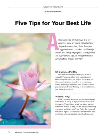 Page 14 of Five Tips for your Best Life