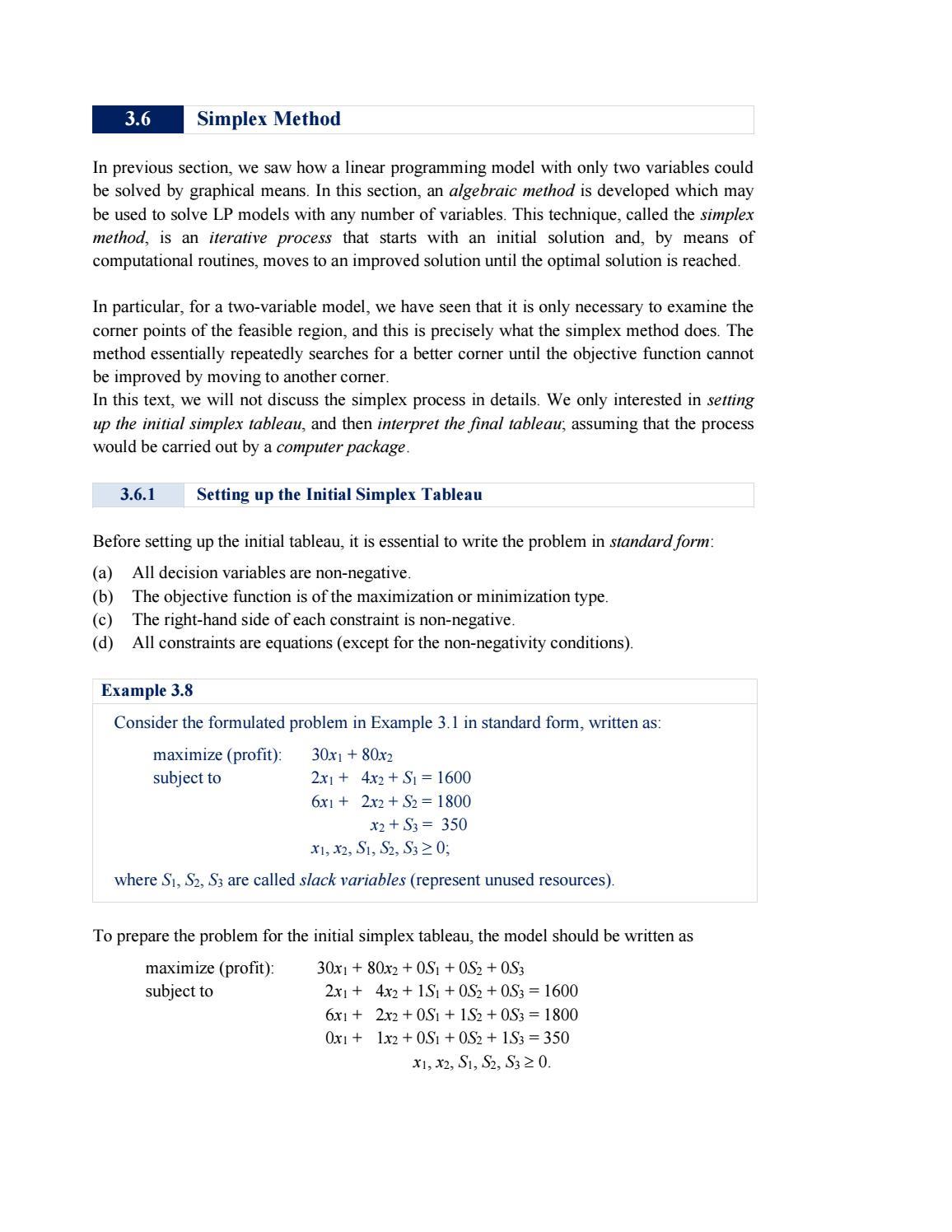 3 6 Simplex Method
