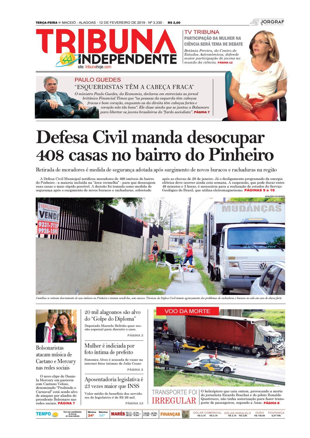365a3f522 Edição número 3330 - 12 de fevereiro de 2019 by Tribuna Hoje - issuu