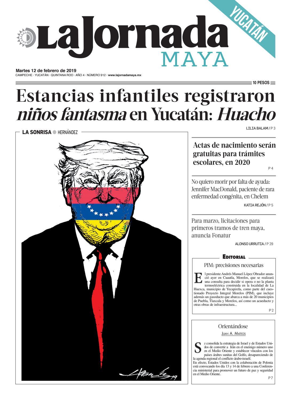 f6704d2f8 La Jornada Maya · martes 12 de febrero de 2019 by La Jornada Maya - issuu