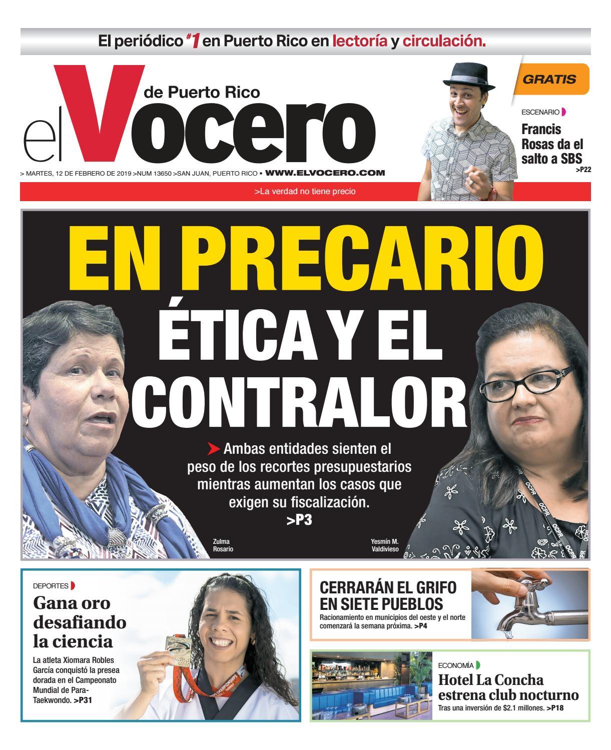 d0cecfee9a Edición del 12 de febrero de 2019 by El Vocero de Puerto Rico - issuu