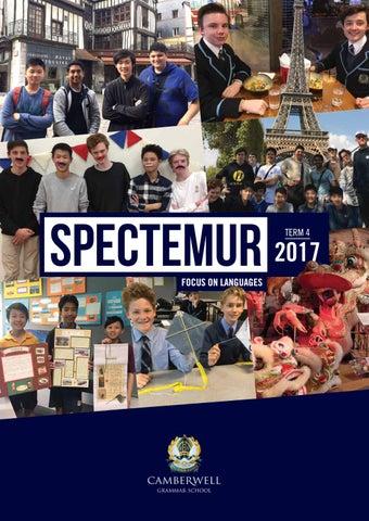 Spectemur Term 4, 2017 by Camberwell Grammar School - issuu