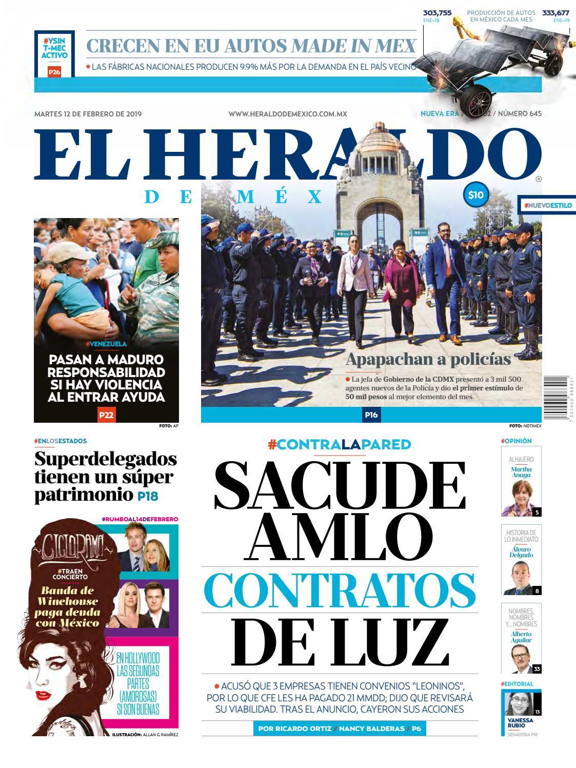68a7738c132f5 12 de febrero 2019 by El Heraldo de México - issuu