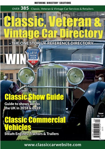 Classic Veteran Vintage Car Directory 2018 19 By Media Chameleon Ltd Issuu
