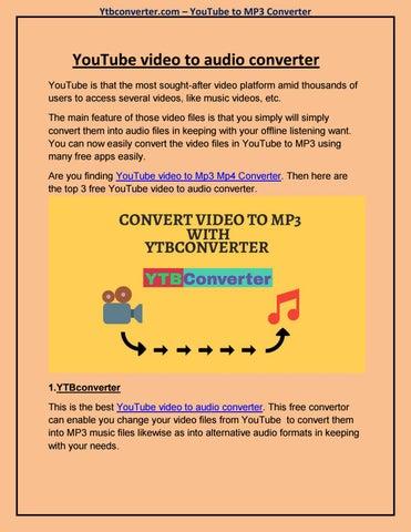 YouTube video to audio converter