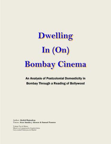 Dwelling in (on) Bombay Cinema by MAca Etsam - issuu